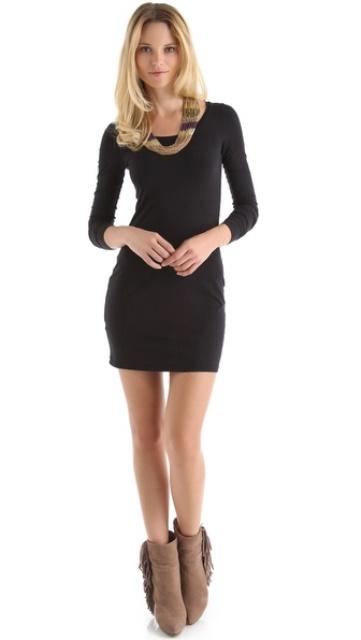 dar kesim mini elbise modeli