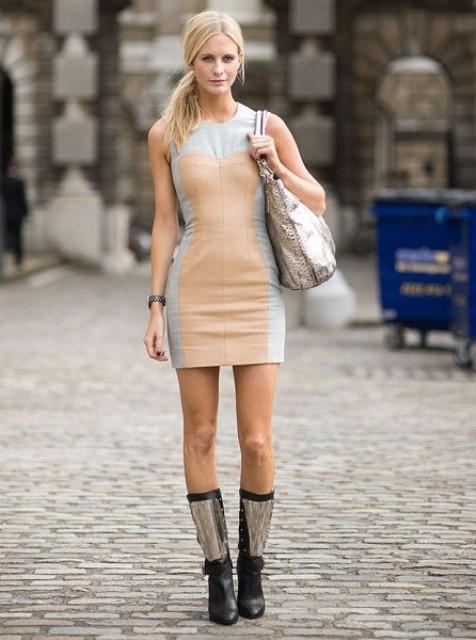 dar kesim spor elbise modeli