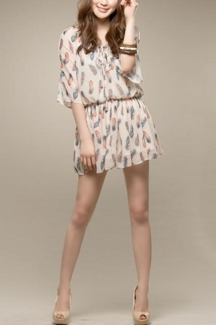 mini sifon elbise modeli
