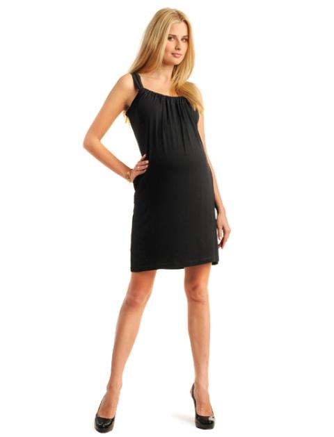 siyah hamile abiye elbise modeli