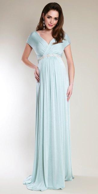 uzun hamile abiye elbise modeli