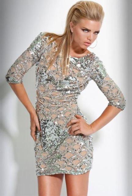 mini abiye elbise modeli
