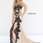 sherri hill dantel abiye elbise modeli