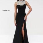 sherri hill uzun siyah abiye elbise modeli