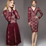 bordo abiye elbise modelleri