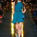 elie saab mavi mini abiye elbise