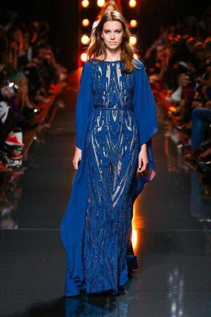 gece mavisi uzun abiye elbise