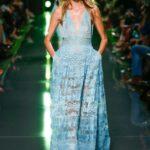 mavi uzun abiye elbise