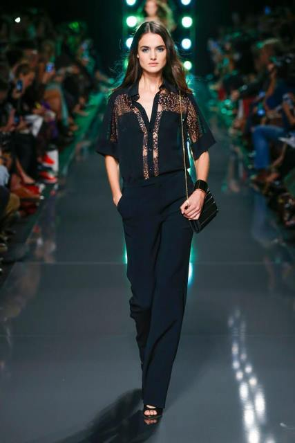 siyah abiye pantolon bluz modeli