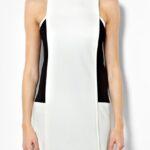siyah beyaz elbise kombini