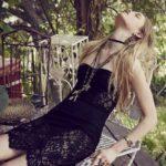 siyah dantelli gotik elbise