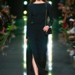 siyah uzun kollu abiye elbise
