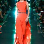 turuncu abiye elbise modeli