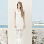 mango beyaz elbise