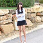 siyah mini dantel etek modeli