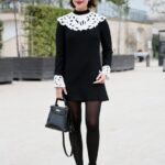 klasik siyah elbise modeli