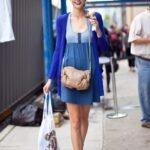 mavi mini elbise modeli
