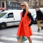 turuncu elbise modeli