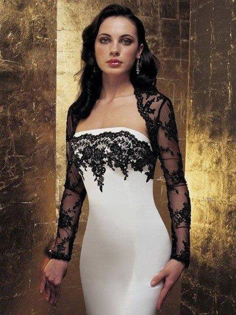 dantel bolerolu abiye elbise modeli