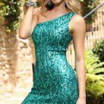 payetli abiye elbise modeli