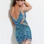 pullu abiye elbise modeli