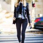 siyah payetli blazer ceket modeli