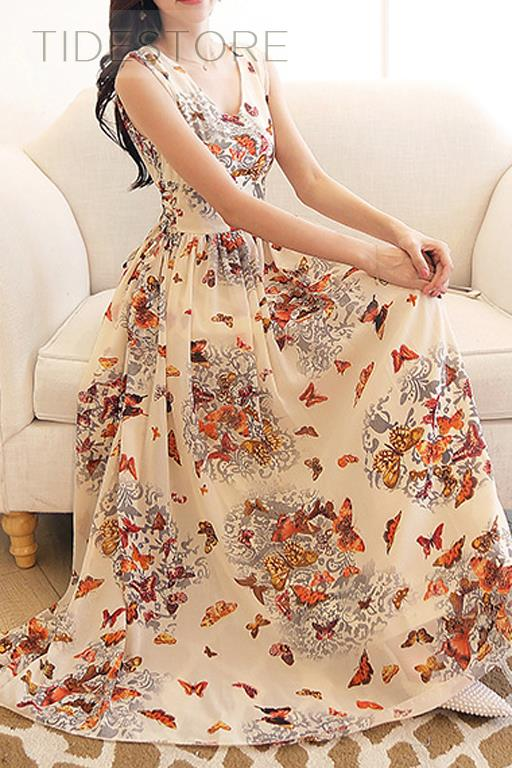 tidestore maxi dress