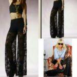 siyah dantel pantolon modeli