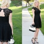siyah dantel elbise modeli