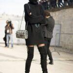 siyah kazak elbise kombini