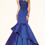 mavi abiye elbise modeli