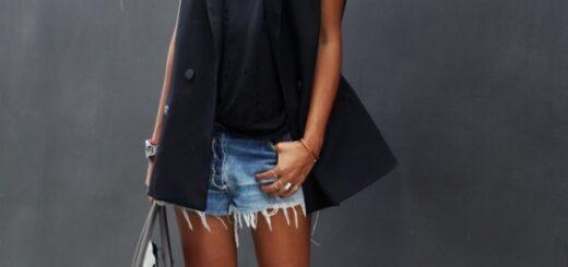 siyah kolsuz blazer ceket modeli