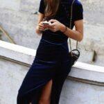 kadife-elbise-modelleri