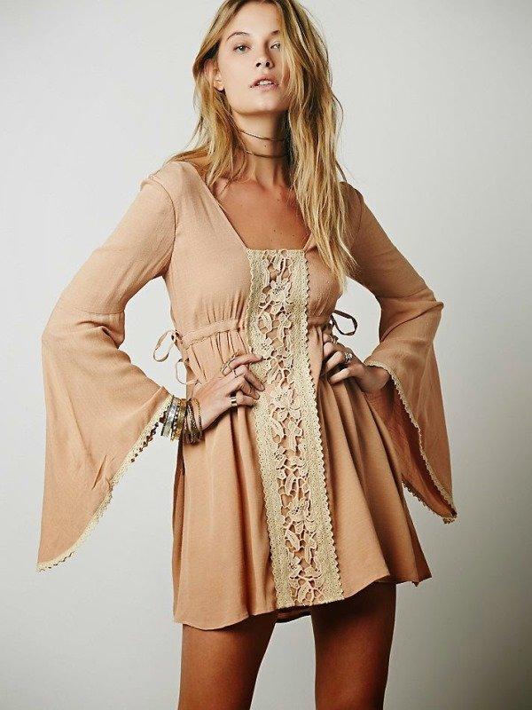 ispanyol kol mini elbise modeli