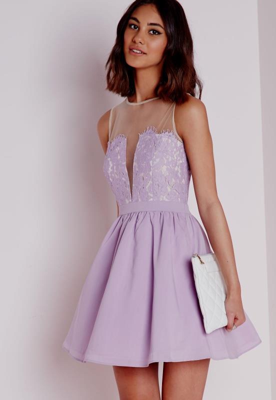 leylak ( lila ) elbise modeli