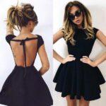 siyah sade mezuniyet elbisesi
