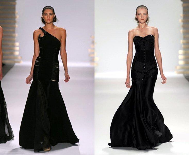 siyah abiye elbise modeli